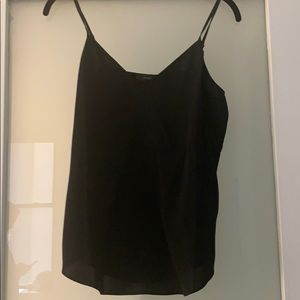Jcrew adjustable strap black cami